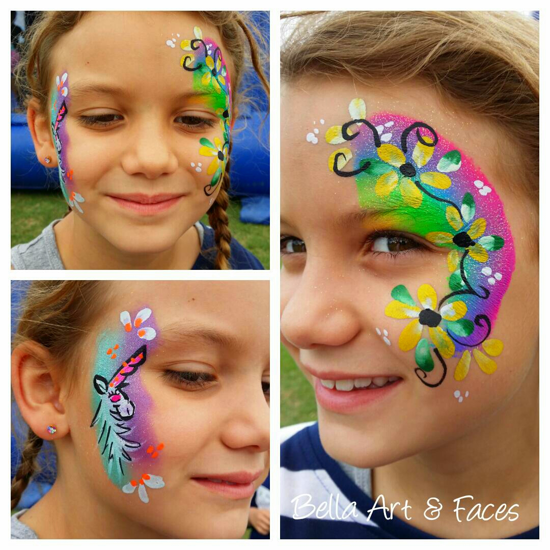 Flower-Face-Painting