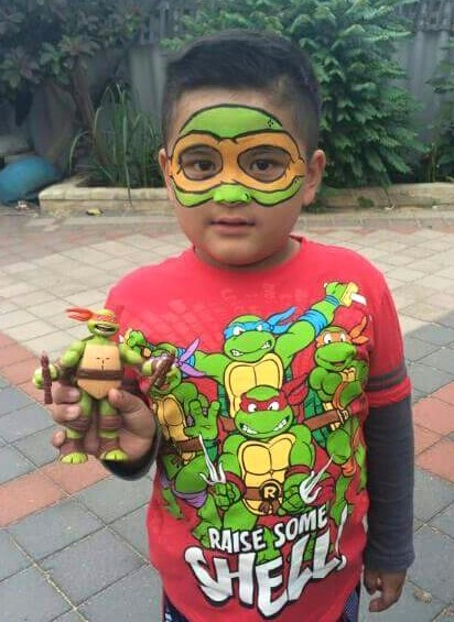 Ninja Turtle Face Painting