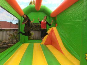 Butterfly Slide Bouncy Castle
