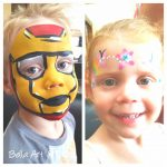 Face-Painting-Iron Man and Flower