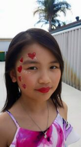 Heart-Face-Painting