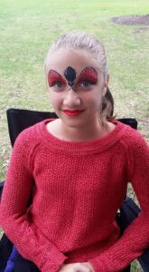 Lady Bug Face Painting