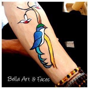 Face-Painting-Bird