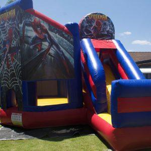 Spiderman Bouncy Castle Slide