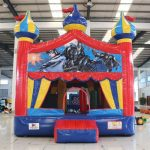circus bounce with batman banner