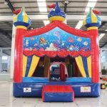circus bounce with sea life banner